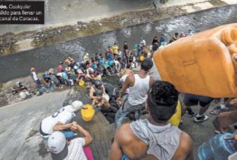 Venezuela, sin luz, ahora lucha por el agua