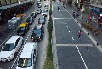 Presentaron la nueva avenida Corrientes, con un tramo peatonal