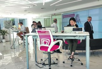 Sin filas, con biometría y lectores de huellas: así son las sucursales bancarias del futuro