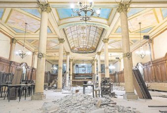 La confitería Ideal recuperó su elegante cúpula y reabrirá en un año