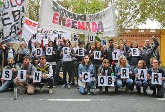 Suteba detectó irregularidades en salarios y marchó en La Plata