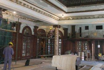 Confitería del Molino: expertos avanzan en la restauración del gran salón de baile