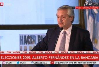 """Alberto Fernández: """"Cuando los mercados ríen, la gente llora, y Macri cuenta"""""""