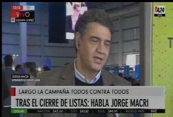 """Jorge Macri: """"Estoy convencido de que Mauricio Macri junto a Miguel Ángel Pichetto será el próximo presidente"""""""