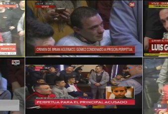 "Caso Brian Aguinaco: cadena perpetua para el único detenido - ""Acá se hizo Justicia"""