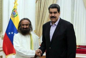 """Nicolás Maduro convocó al Ravi Shankar para mediar con la oposición - """"Esto es una burla adicional a la sociedad venezolana"""""""