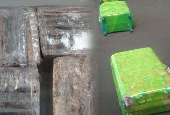 Decomisaron en Ezeiza 20 valijas cargadas con 258 kilos de cocaína