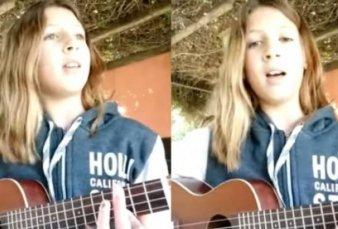 Femicidio de Navila: una nena de Chascomús conmovió con una canción contra la violencia machista
