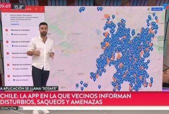 Caos en Chile: prefieren usar la app Sosafe antes que el 911