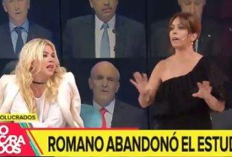 Esmeralda Mitre y Gerardo Romano se pelearon al aire y se fueron de Involucrados