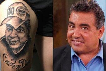 Furor por el tatuaje de Maradona que se parece a Diego Pérez