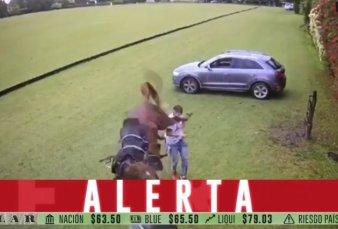 Tortuguitas: impresionante patada de un caballo a un joven