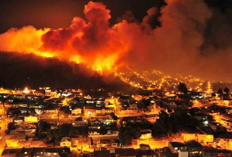 Incendios en Chile: 245 casas afectadas por las llamas en Valparaíso