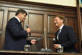 Juró Suárez en Mendoza con promesas de continuidad de gestión