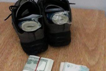 Detuvieron a un argentino volviendo de Uruguay con 40 mil dólares en las zapatillas