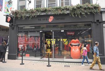 En plena pandemia los Rolling Stones abren su primera tienda oficial a la calle