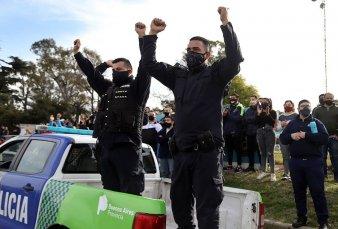Un sector de la Bonaerense haría otra protesta por reclamos salariales