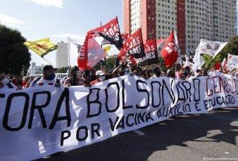 Multitudinarias marchas en Brasil y en otros países para pedir la salida de Bolsonaro