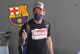 Messi volvió a Barcelona y es iminente el anuncio de un acuerdo con el club