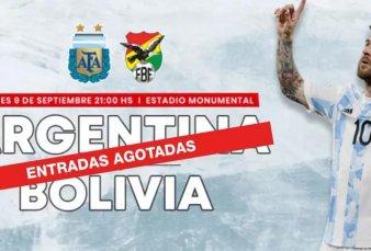Locura por Messi y Argentina: en una hora se agotaron los tickets para el partido con Bolivia