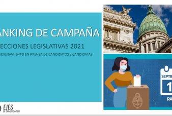 Elecciones legislativas 2021: ranking de campaña
